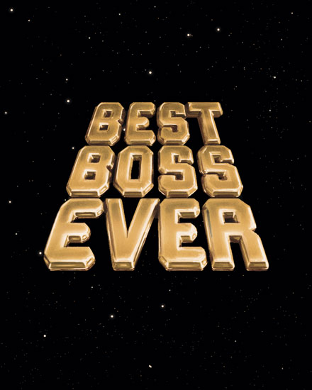 boss day card best boss ever space