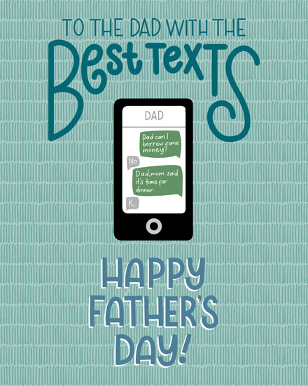 fathers day card to the dad with the best texts