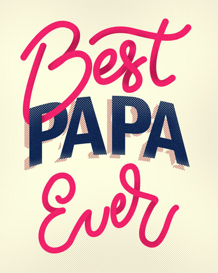 fathers day card best papa ever