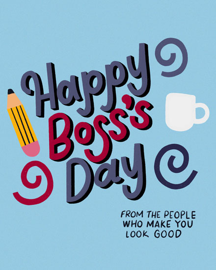 boss day card make you look good