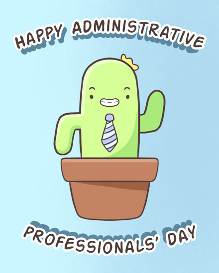 admin day card cactus plant