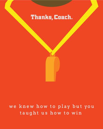 teacher appreciation card thanks coach whistle