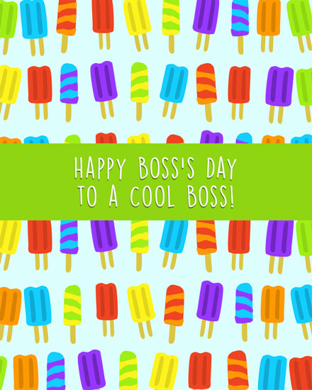 boss day card cool popsicles