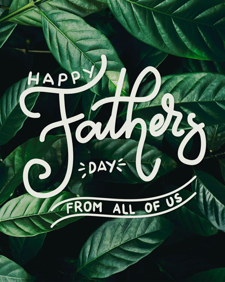 fathers day card happy fathers day from all of us
