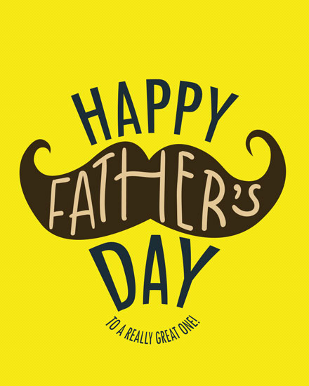 fathers day card mustache