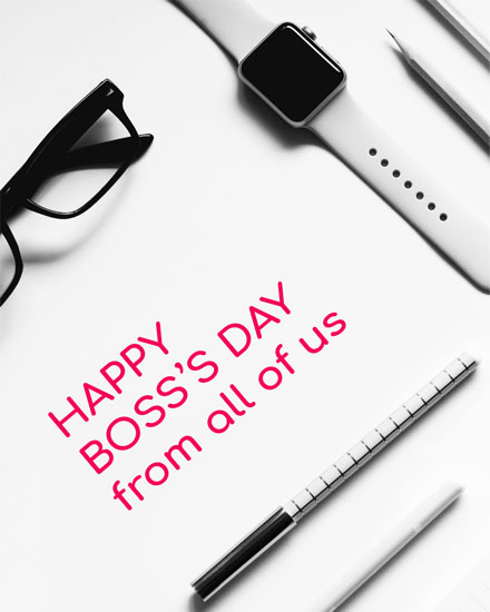 boss day card desktop accessories