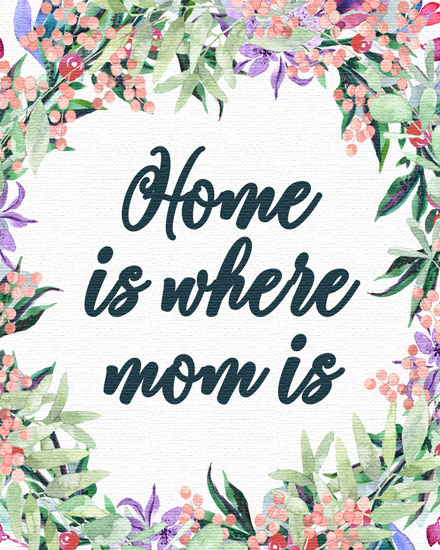 mothers day card home is where mom is