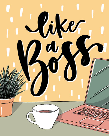 boss day card like a boss