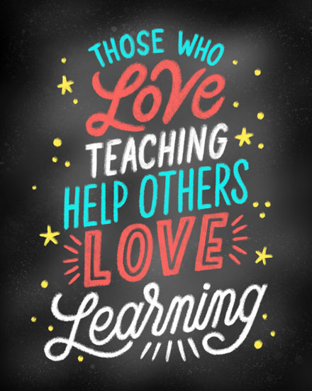 teacher appreciation card love teaching love learning