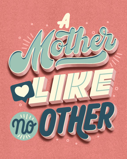mothers day card mother like no other
