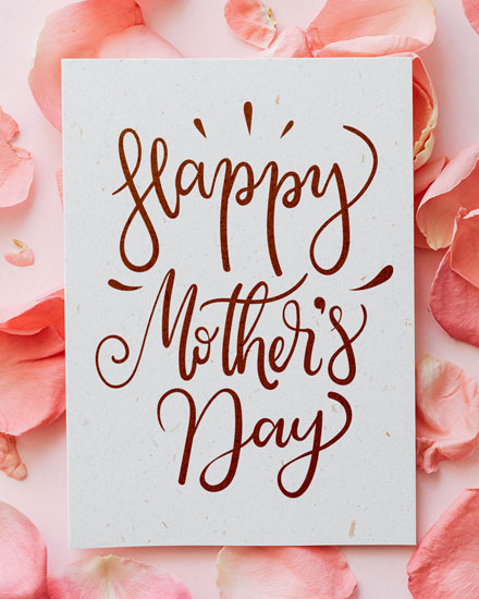 mothers day card mothers day petals