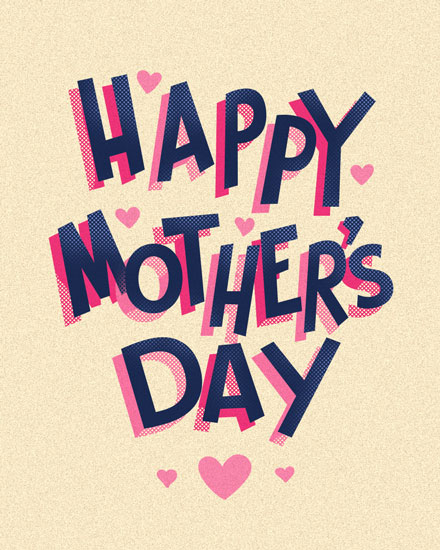 mothers day card happy mothers day retro
