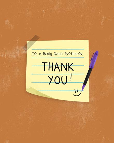 teacher appreciation card post it note thank you professor