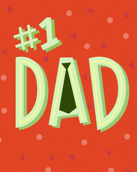 fathers day card number one dad