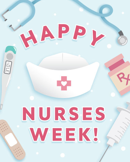 nurse week card nurse hat