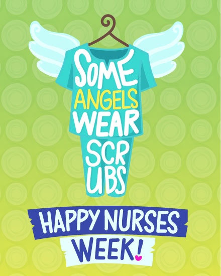 nurses week card angels in scrubs