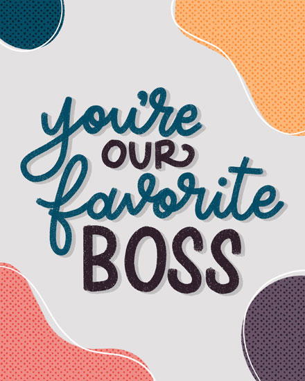 boss day card our favorite boss