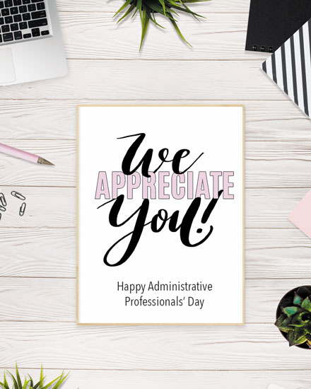 administrative professionals day neutral desktop