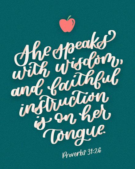 teacher appreciation card proverb