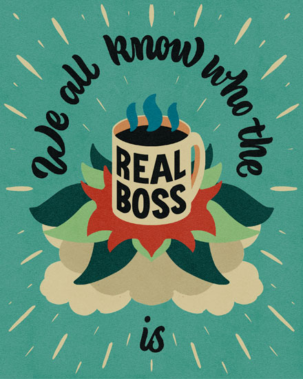admin day card we all know who the real boss is