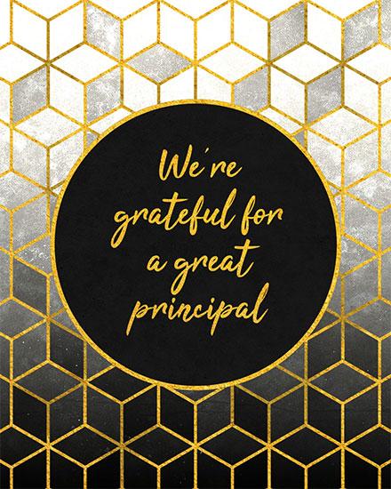 teacher appreciation card we are grateful for a great principal