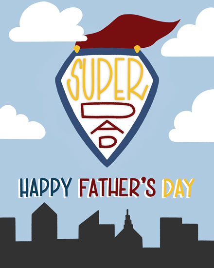 fathers day card super dad