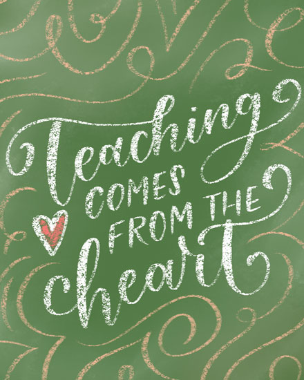 teacher appreciation card teaching comes from the heart