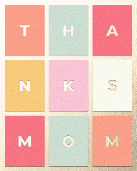 mothers day card thanks mom rectangles