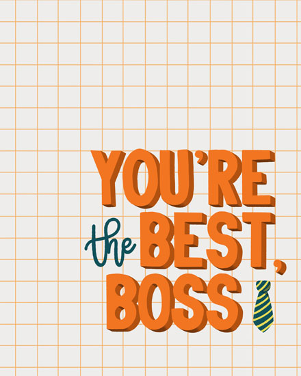 boss day card best boss tie