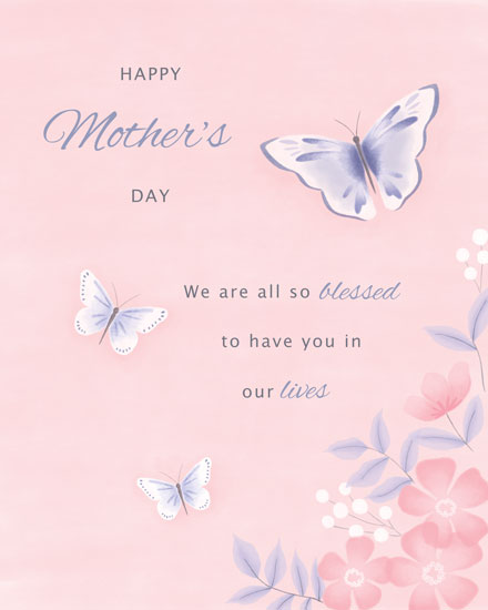 mothers day card three butterflies