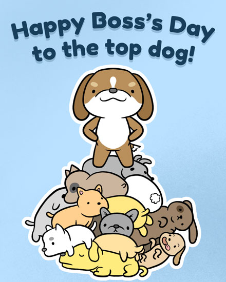 boss day card top dog