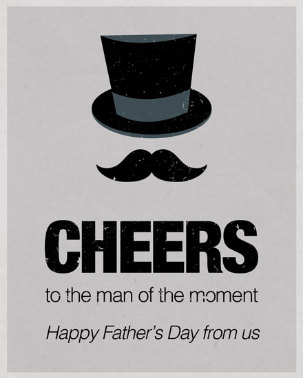 father's day card top hat gentleman