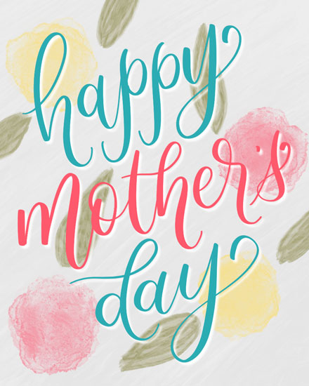 mothers day card watercolor texture