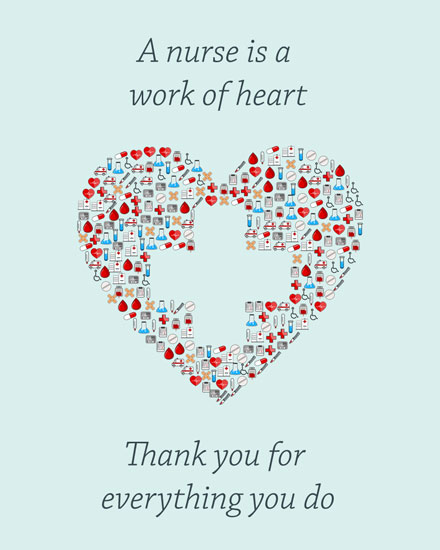 nurses week card nurses work of heart