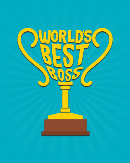 boss day card worlds best boss trophy
