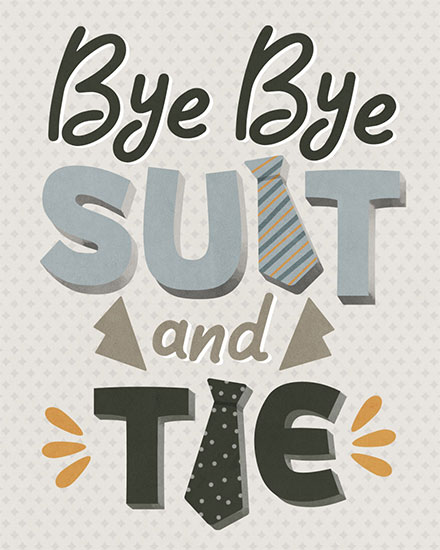 retirement card bye bye suit and tie