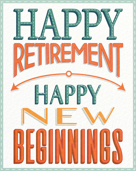 retirement card new beginnings
