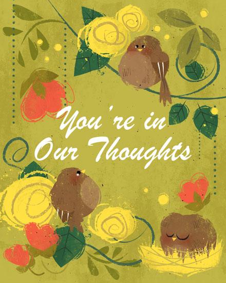 sympathy card birds