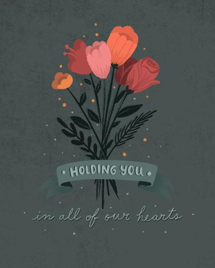 sympathy card rose bouquet