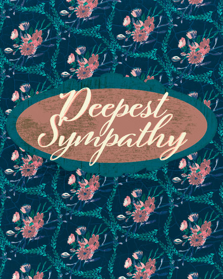 sympathy card deepest sympathy cracked porcelain