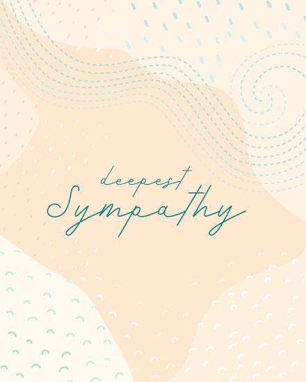 sympathy card deepest sympathy swirl pattern