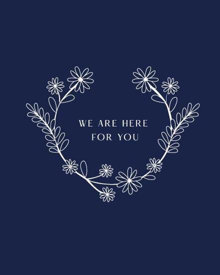 sympathy card floral wreath