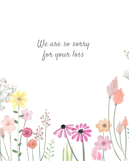 sympathy card flowers in marker