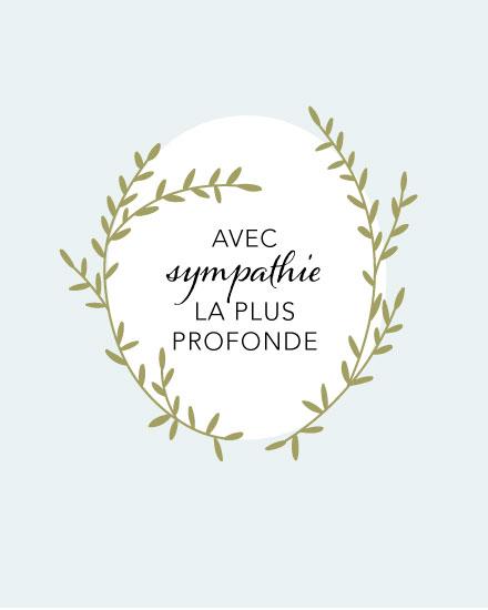 sympathy card french avec sympathie leaves