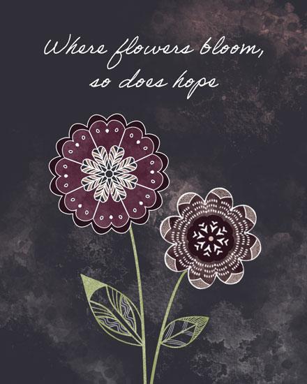 sympathy card mandala flowers