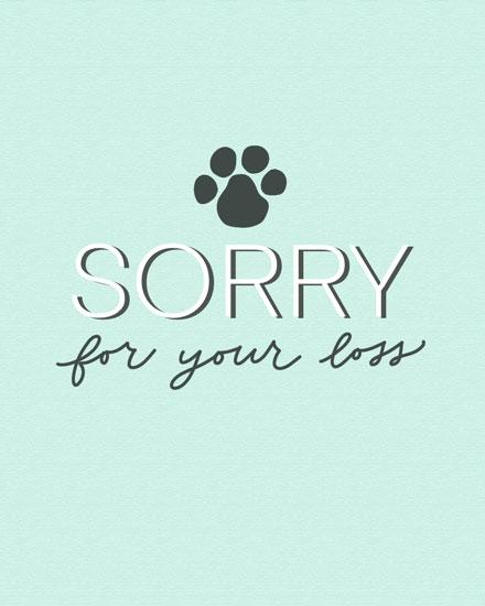 sympathy card paw print