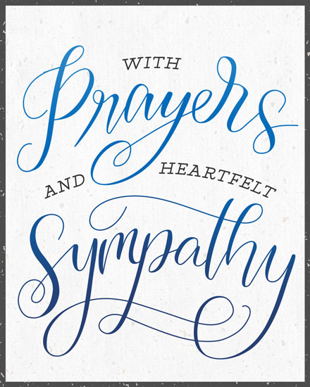 sympathy card prayers and sympathy