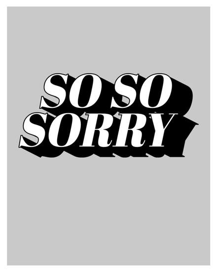 sympathy card so so sorry