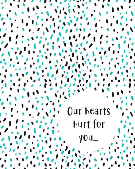 sympathy card sprinkle rain
