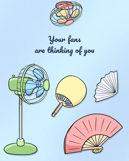 thinking of you card your fans are thinking of you